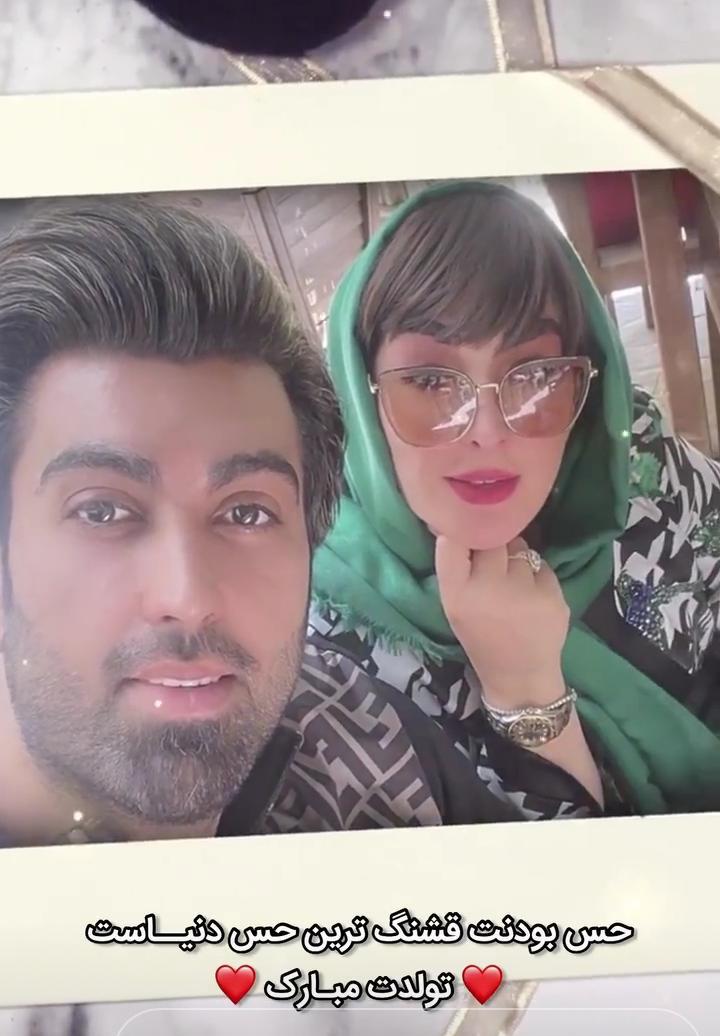 جشن تولد همسر الهام حمیدی/ چهره و تیپ فشنِ الهام حمیدی در تولد همسرش+عکس