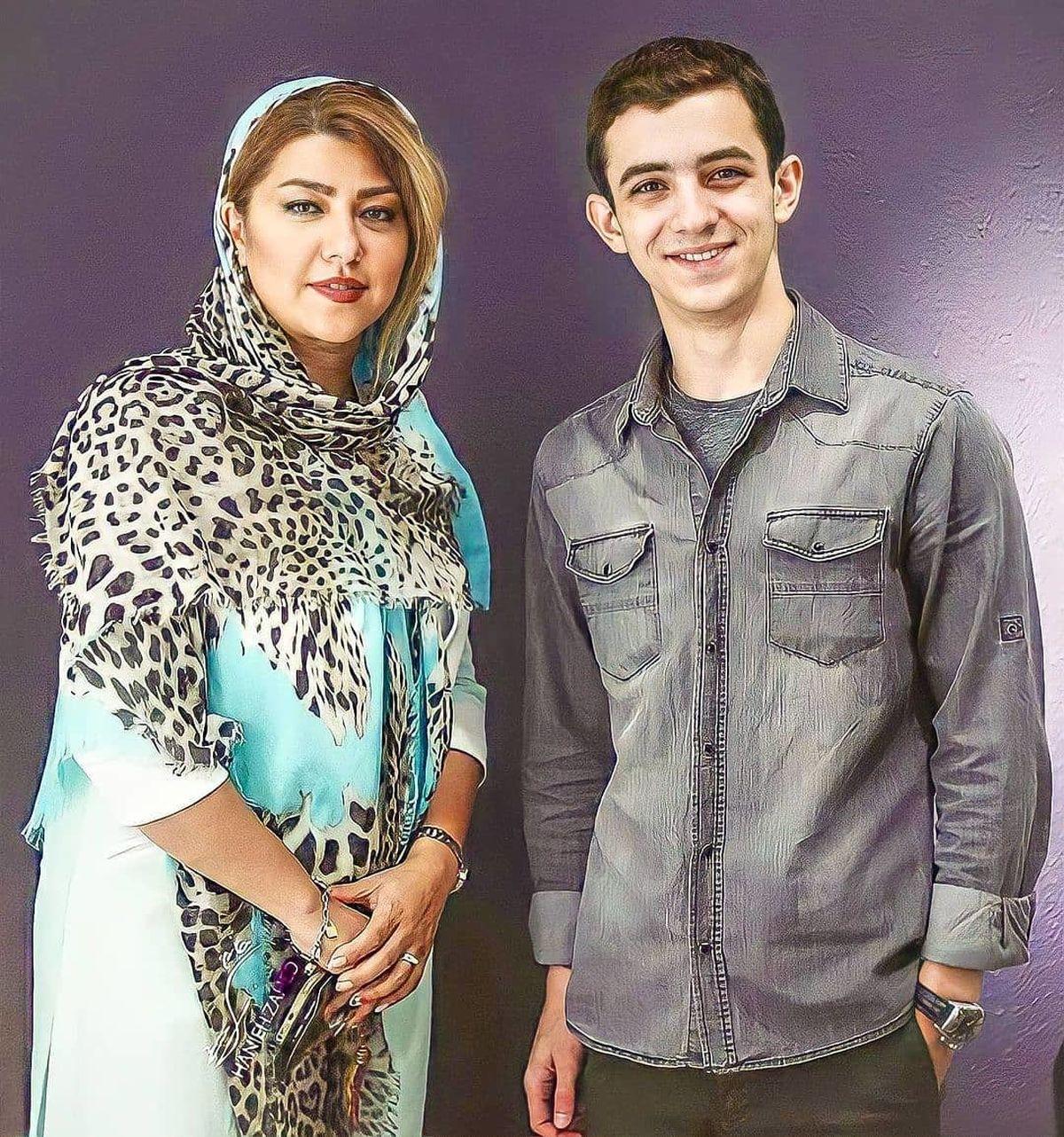 لباس ناجور و زننده همسر شهاب حسینی +عکس