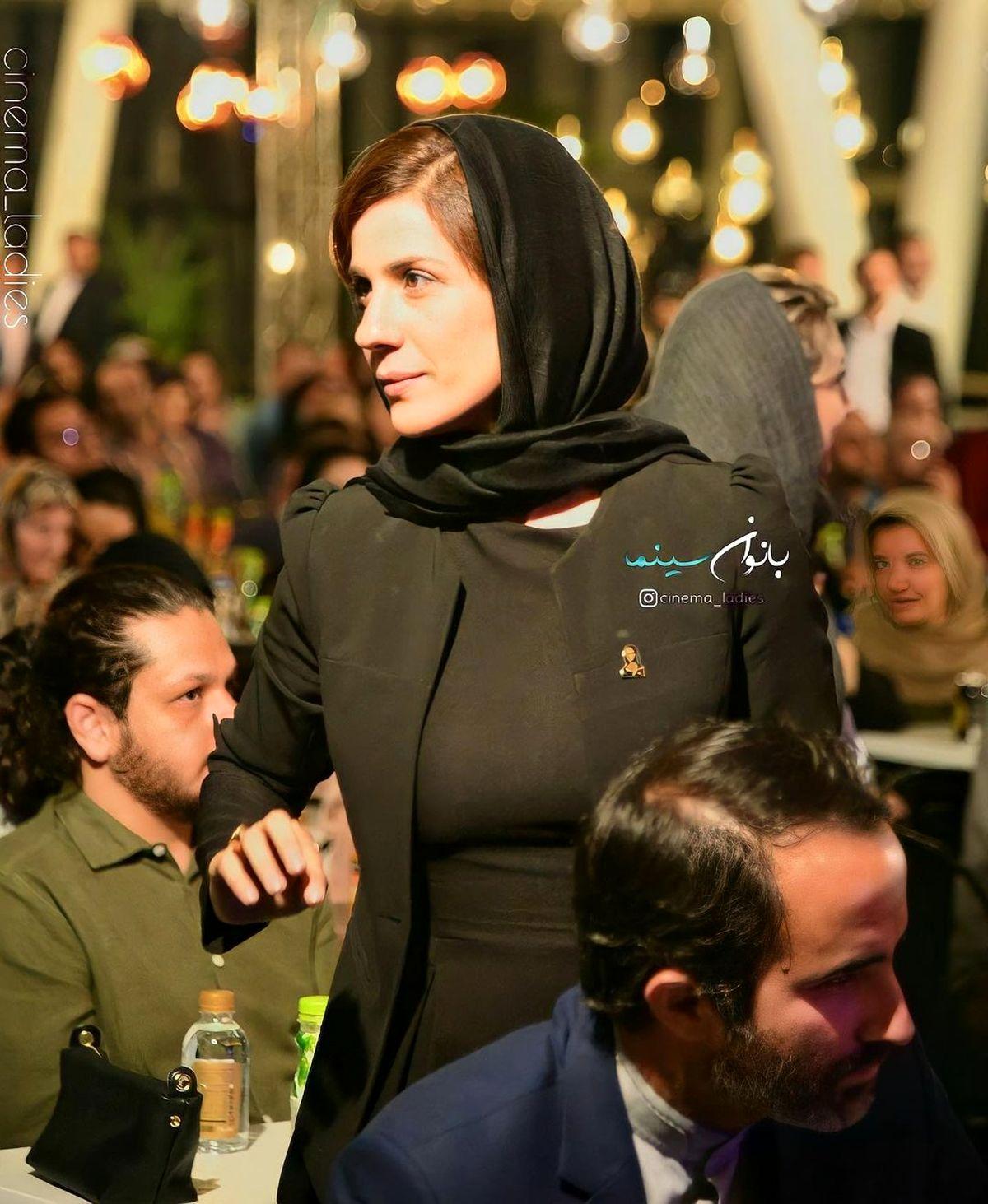 لباس چسبان و غیر عادی سارا بهرامی + عکس