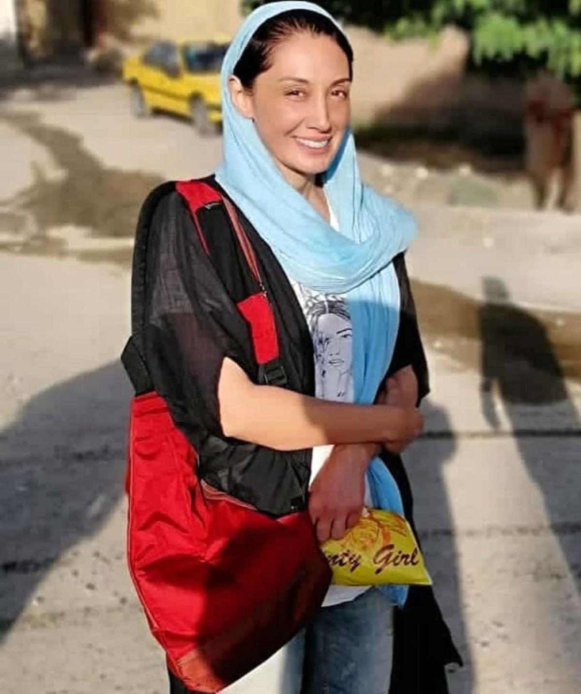 هدیه تهرانی با بولیز نازک در خیابان ! + عکس