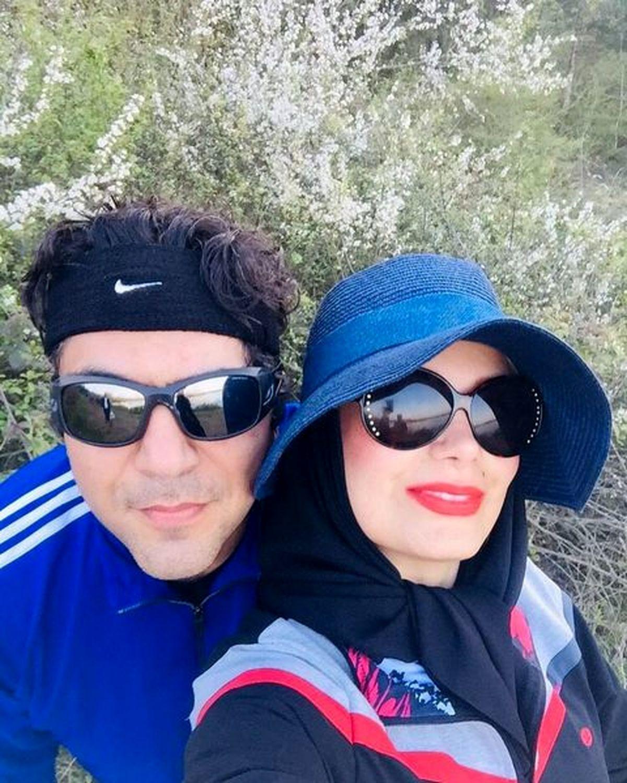صبا راد و همسرش با تیپ ورزشی!+عکس