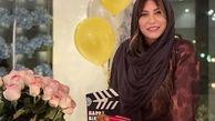 لباس حریر و بدن نمای فریبا نادری جشن تولدش + عکس
