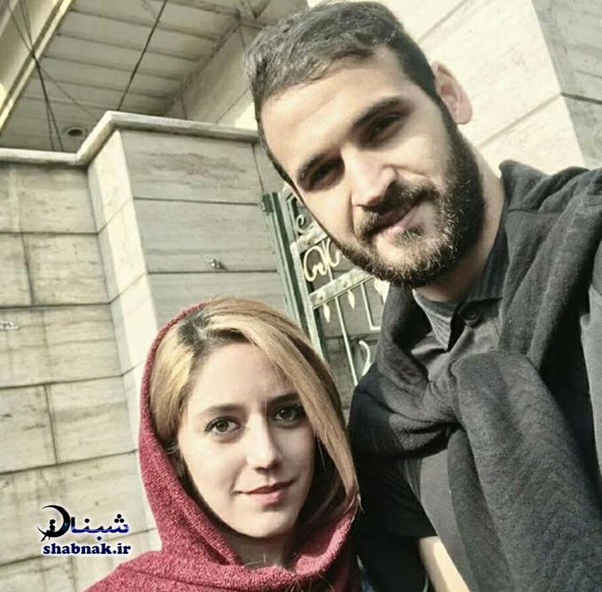 احمد نورالهی هافبک پرسپولیس کنار همسر مو بلوندش + عکس