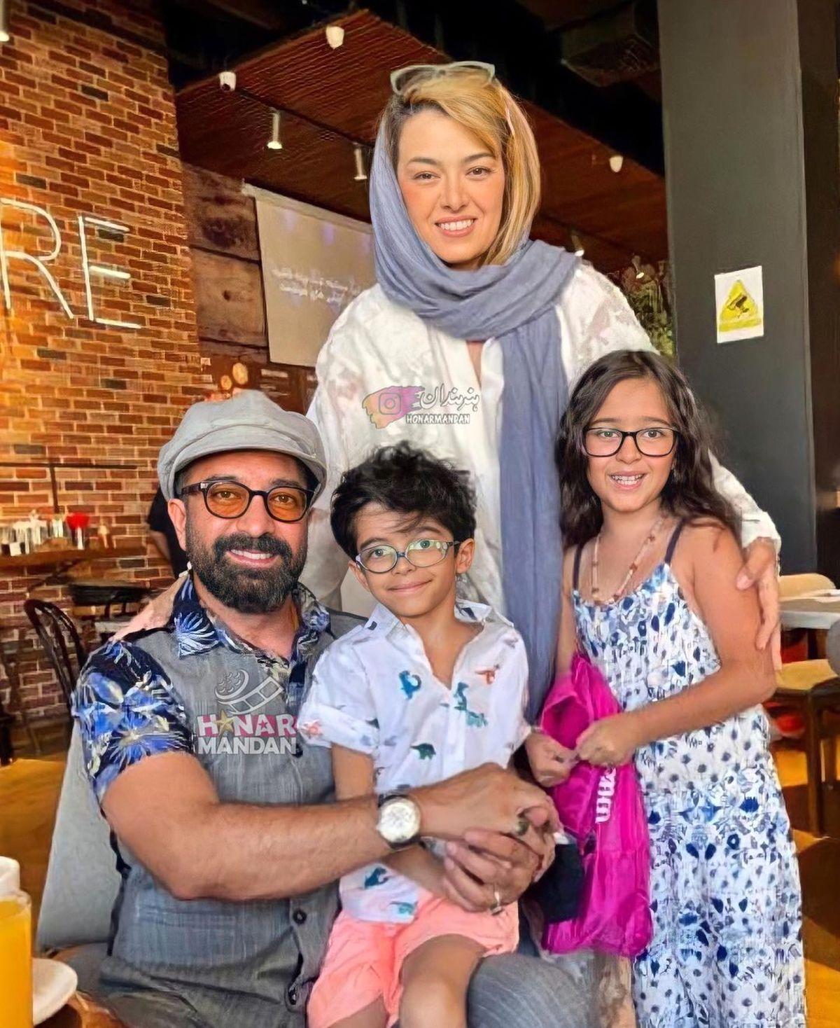 تیپ ناجور همسر مجید صالحی در رستوران +عکس