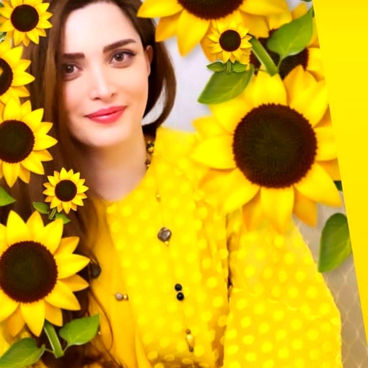 بهنوش طباطبایی با پیراهن زرد +عکس