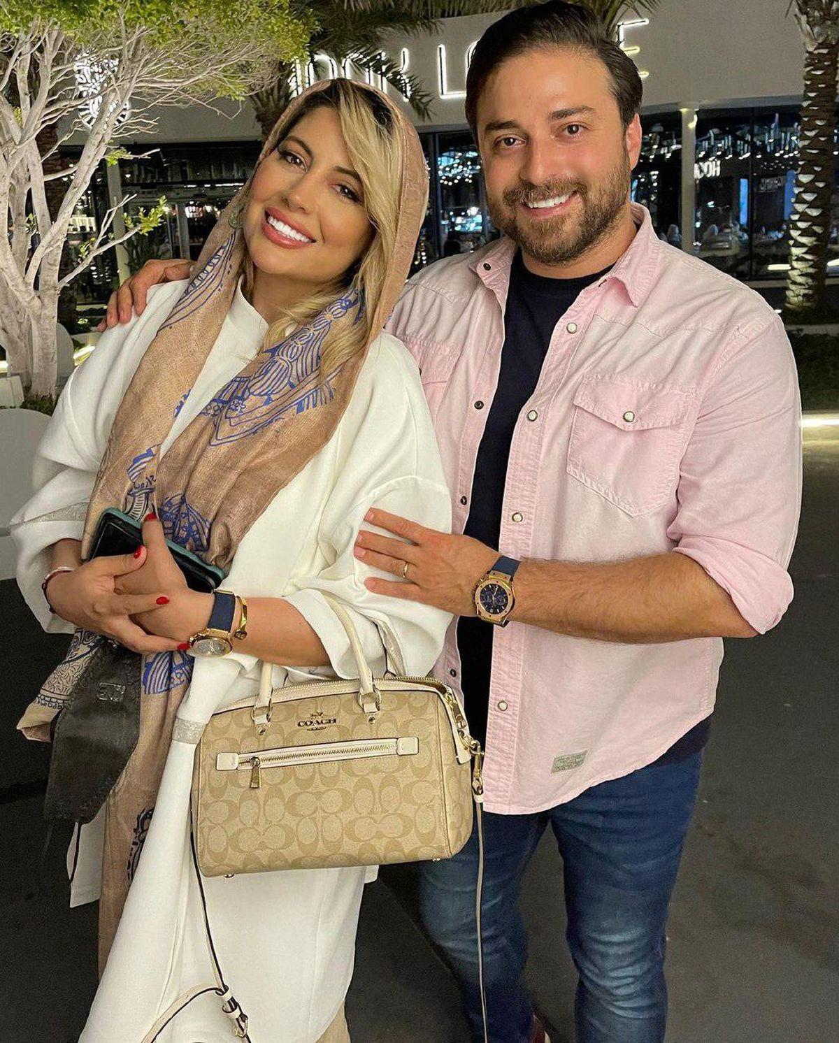 بابک جهانبخش و همسرش در مکانی لوکس+ عکس