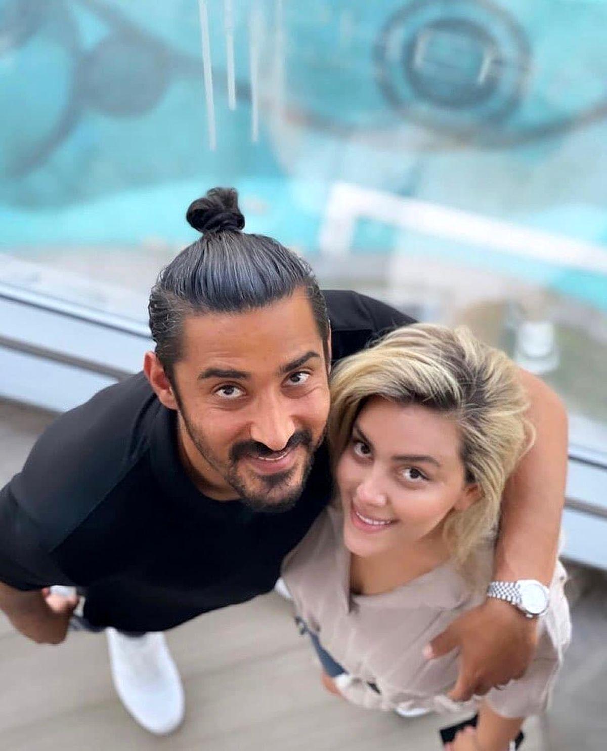 رضا قوچان نژاد و همسرش +عکس