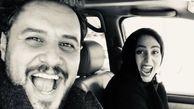 ژست عجیب و غریب رعنا آزادی ور و جواد عزتی در روز آخر زخم کاری/عکس
