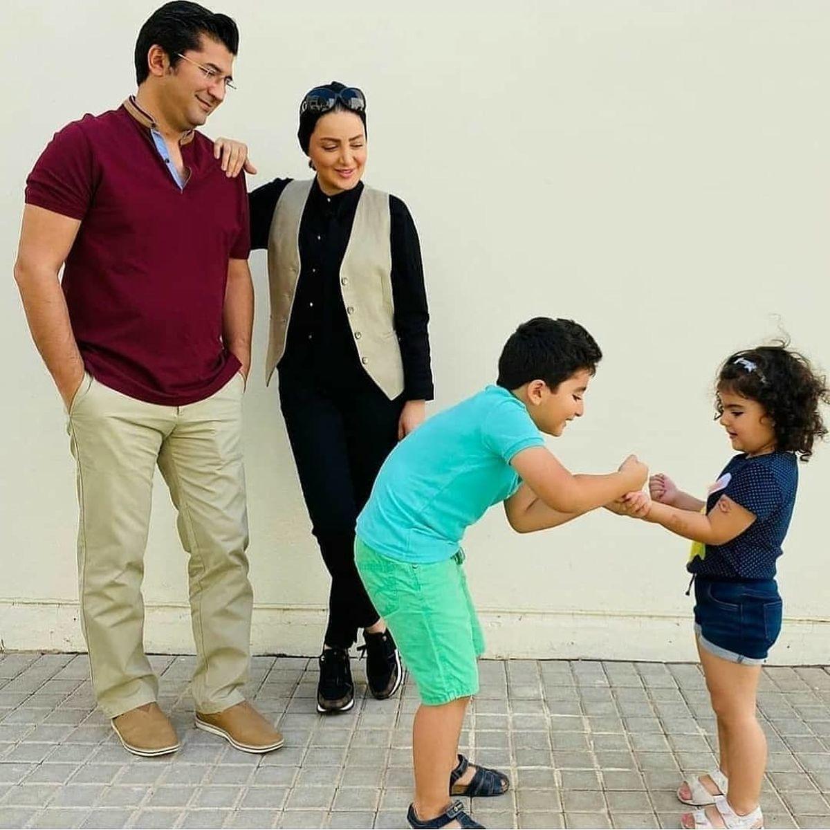 شیلا خداداد با بولیز و شلوار در حیاط خانه اش+عکس