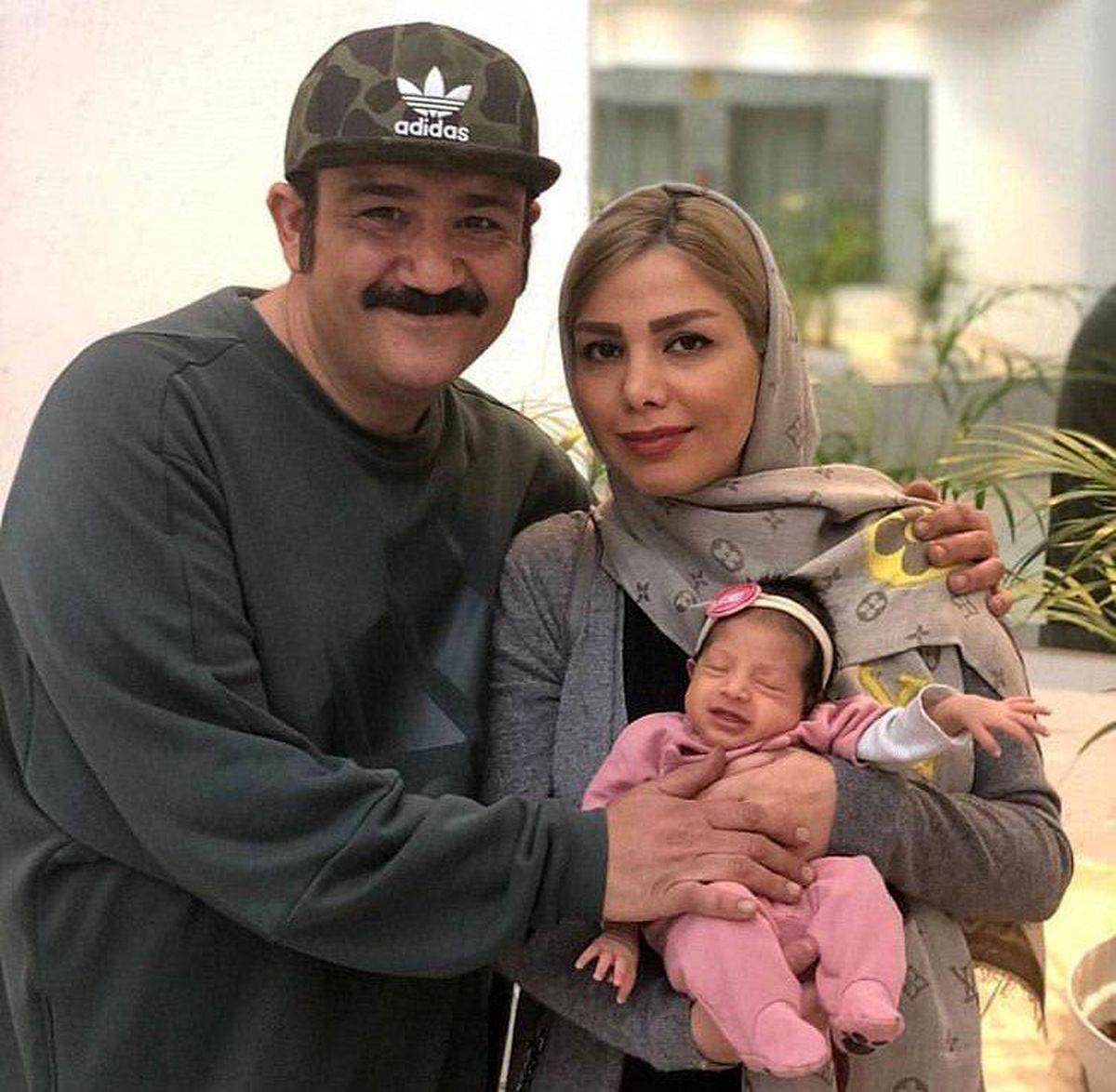 مهران غفوریان در آغوش همسرش + عکس