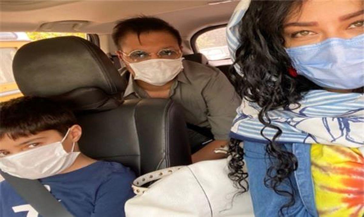 خوش گذرانی همسر شهاب حسینی با یک پسر بعد از طلاق+عکس