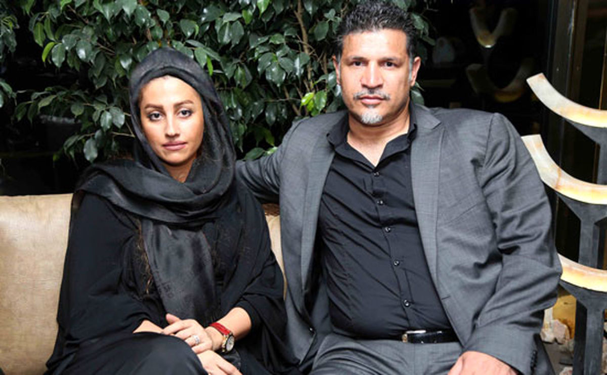 همسر بلوند علی دایی در آغوشش+ عکس