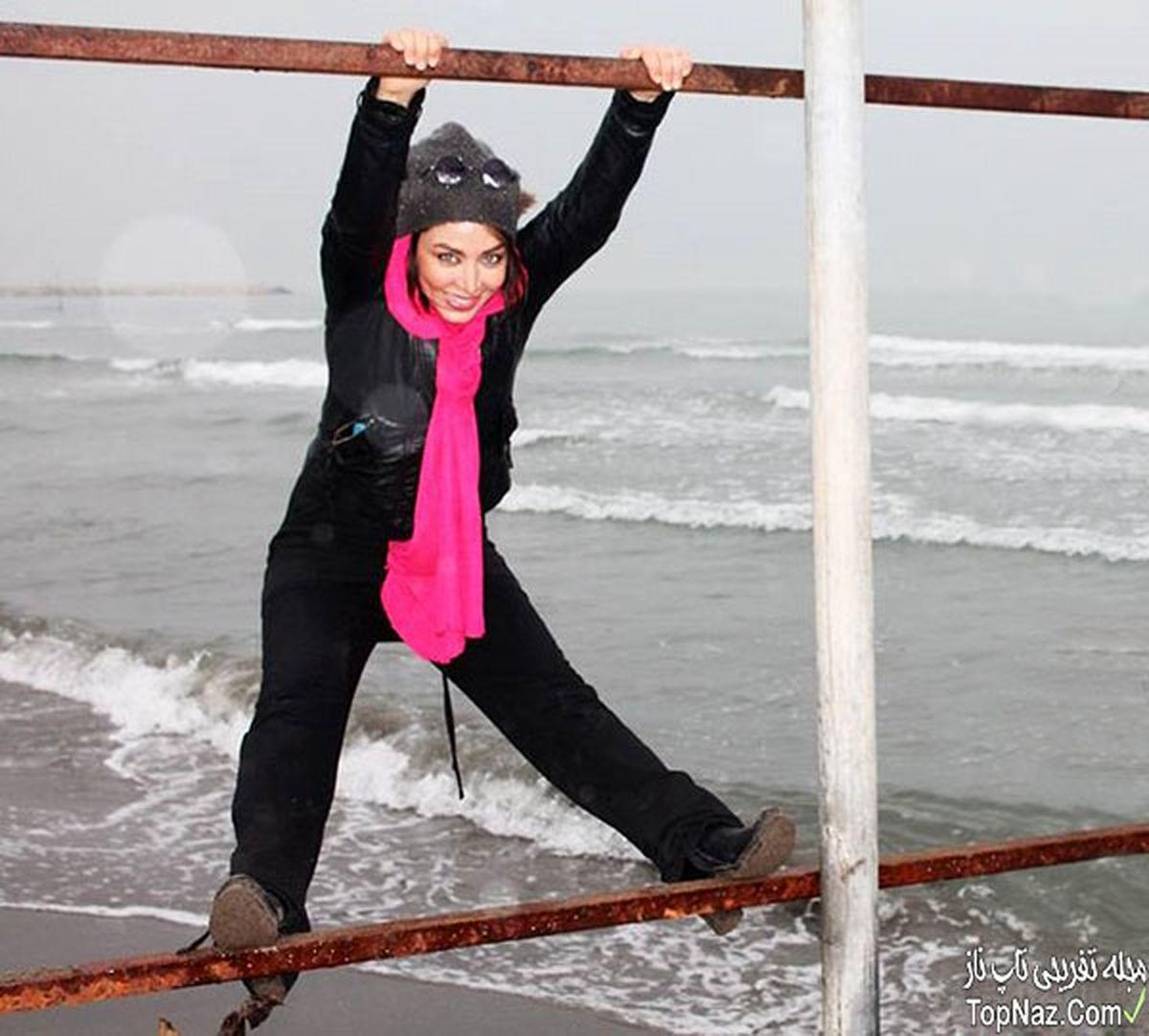 ژست عجیب و غریب فقیه سلطانی کنار دریا + عکس