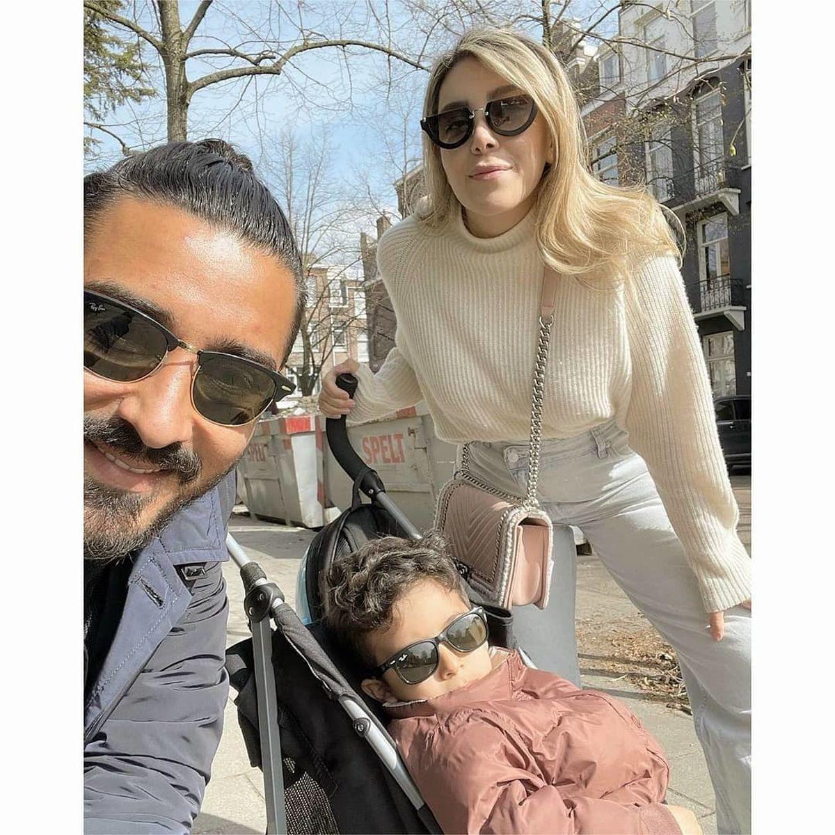 لباس های عجیبِ رضا قوچان نژاد و همسرش+عکس