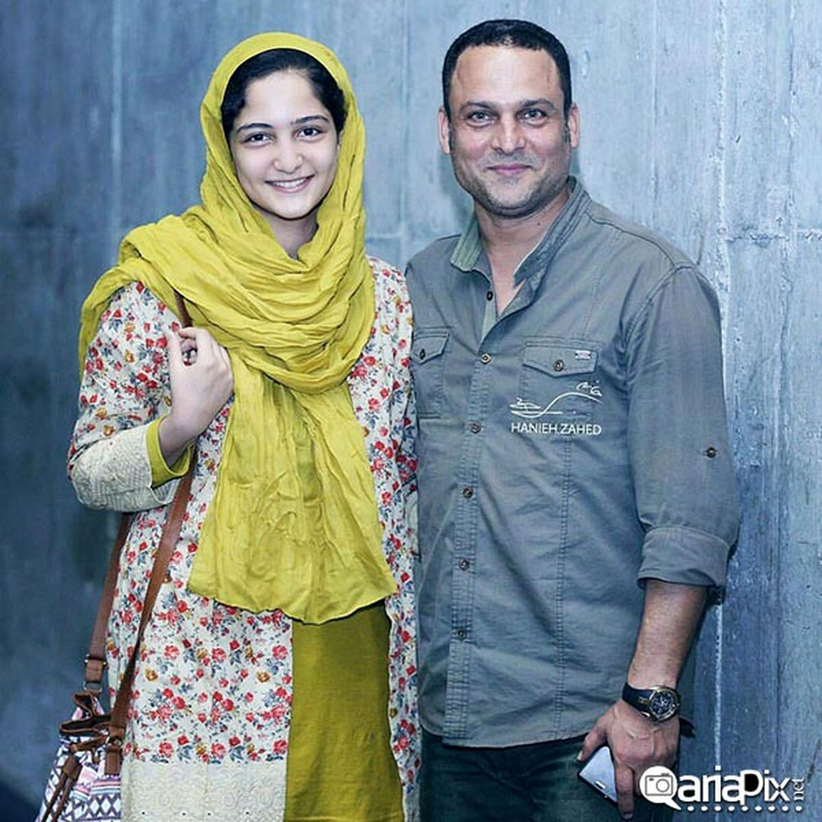 همسر مو بلوند حسین یاری + عکس