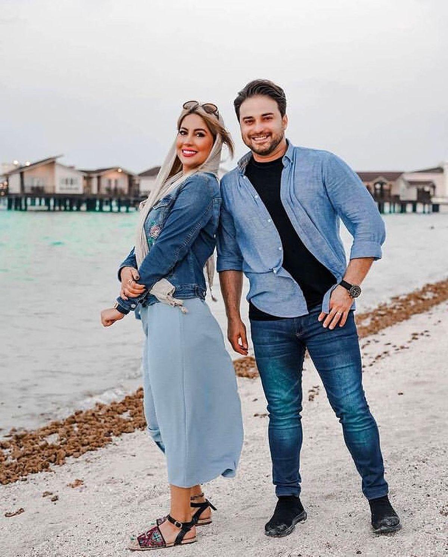 شنا و غواصی کردن همسر بابک جهانبخش در کیش ! +عکس