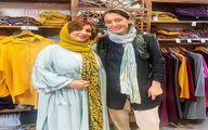 مانتو و شلوار عجیب هدیه تهرانی در یک لباس فروشی +عکس