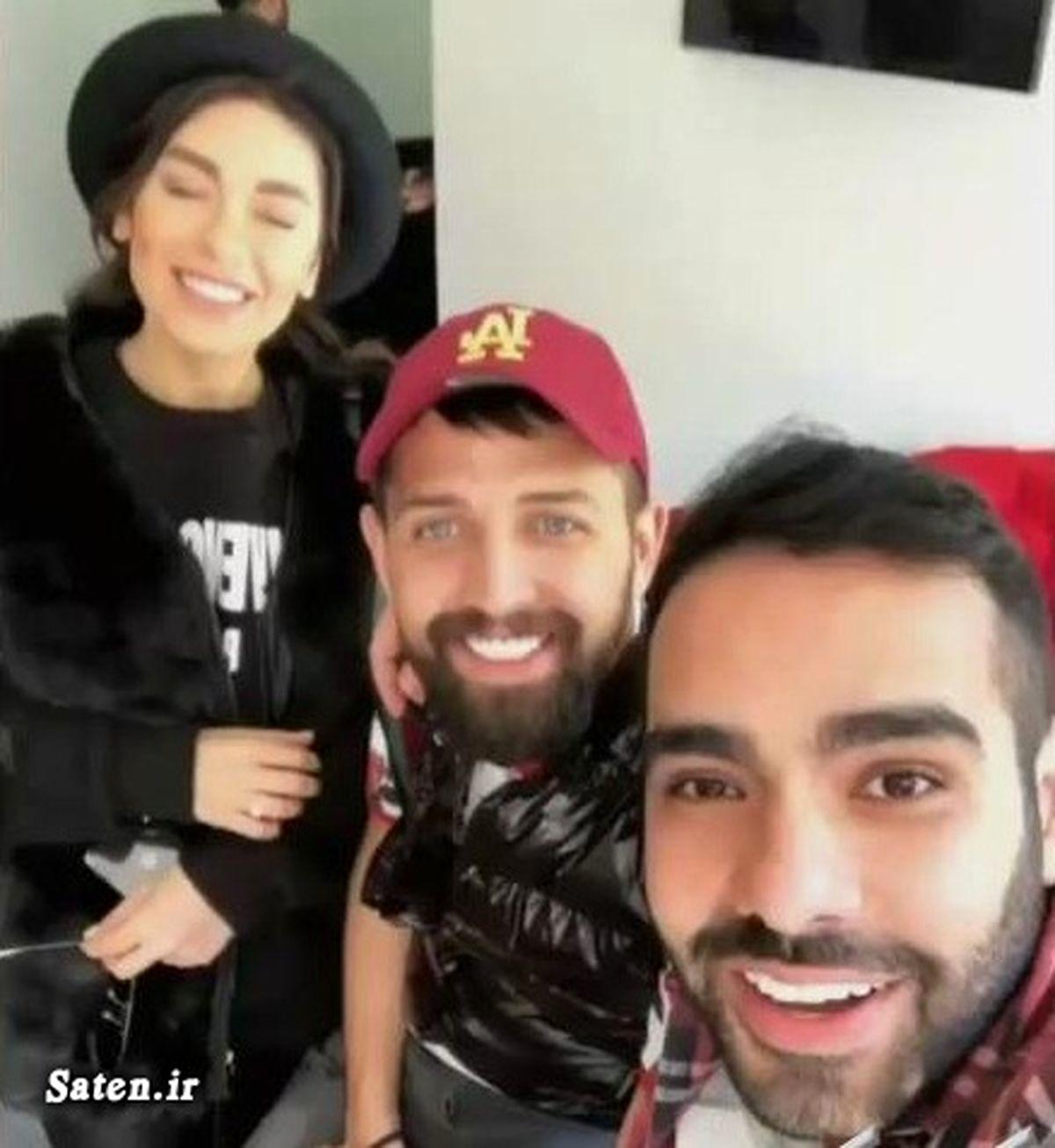 صمیمیت عجیب ساشا سبحانی با همسر محسن افشانی + عکس