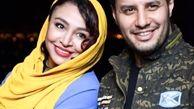 لباس کوتاه و ناجور همسر جواد عزتی در یک مراسم / جواد عزتی و مه لقا باقری + عکس