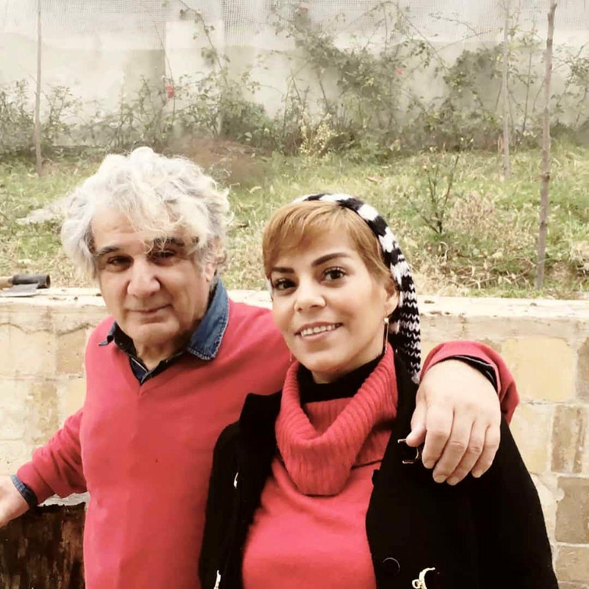 عکس عاشقانه مهدی هاشمی و همسر دومش در طبیعت