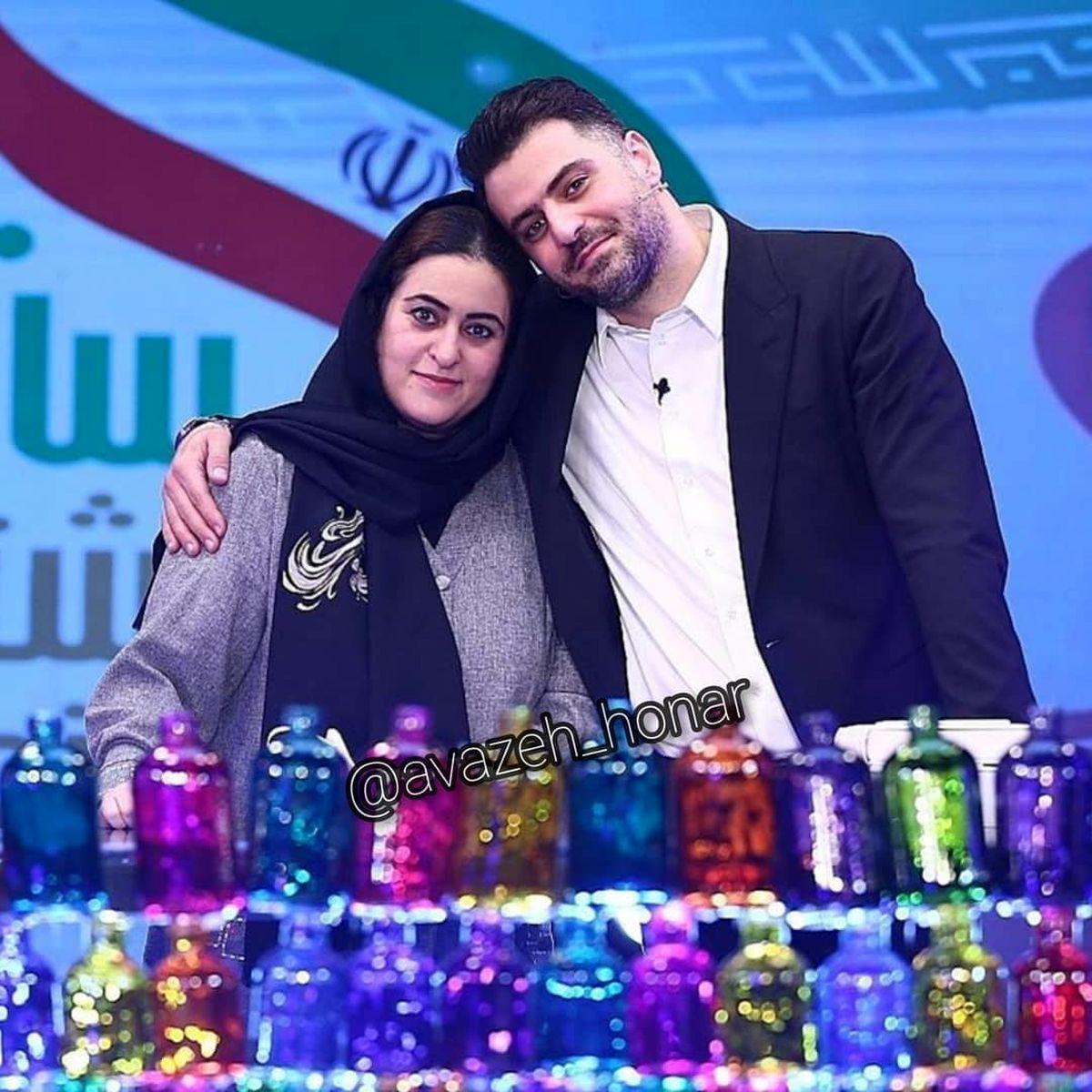 عکس عاشقانه علی ضیا با یک دختر + عکس