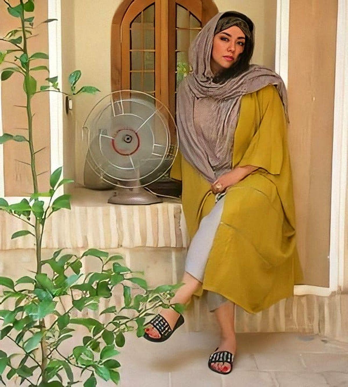 دامن کوتاه پریچهر قنبری همسر شهاب حسینی + عکس