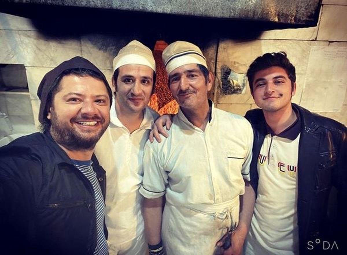 علی صادقی در نانوایی محله +عکس