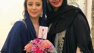 لباس یقه باز الناز حبیبی در آرایشگاه + عکس