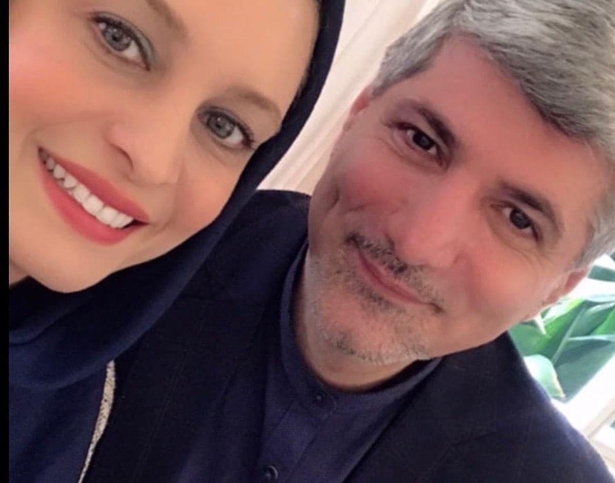 سلفی عاشقانه مریم کاویانی با همسر سیاستمدارش/عکس