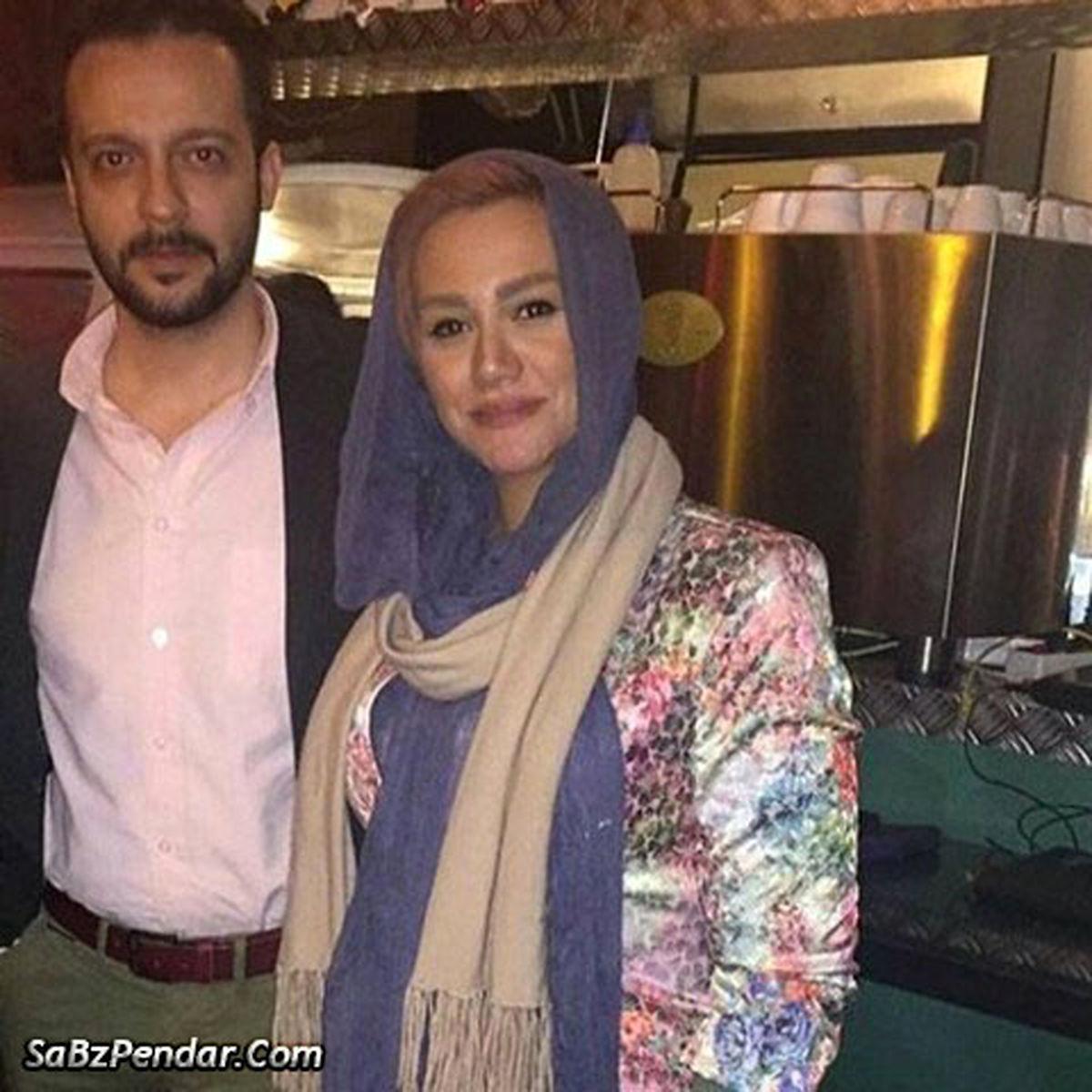 محمد سلوکی و همسر مو بلوندش + عکس