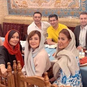 تفریح شیلا خداداد و همسرش با پرستو صالحی در رستورانی لاکچری /عکس