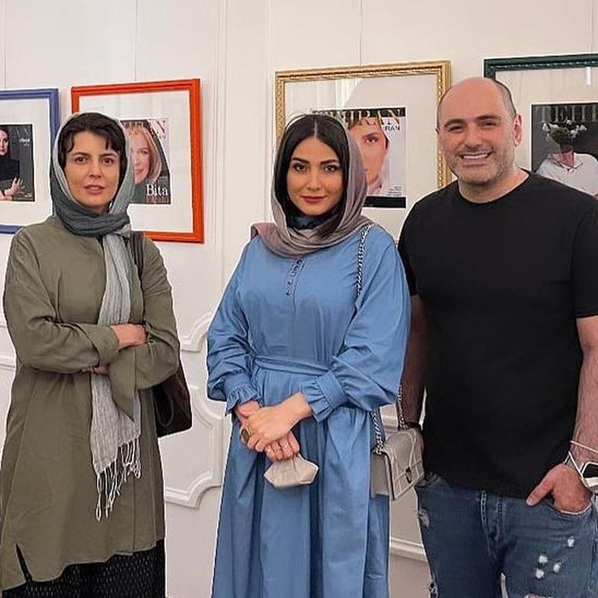 تیپ و چهره ساده لیلا حاتمی در یک گالری + عکس