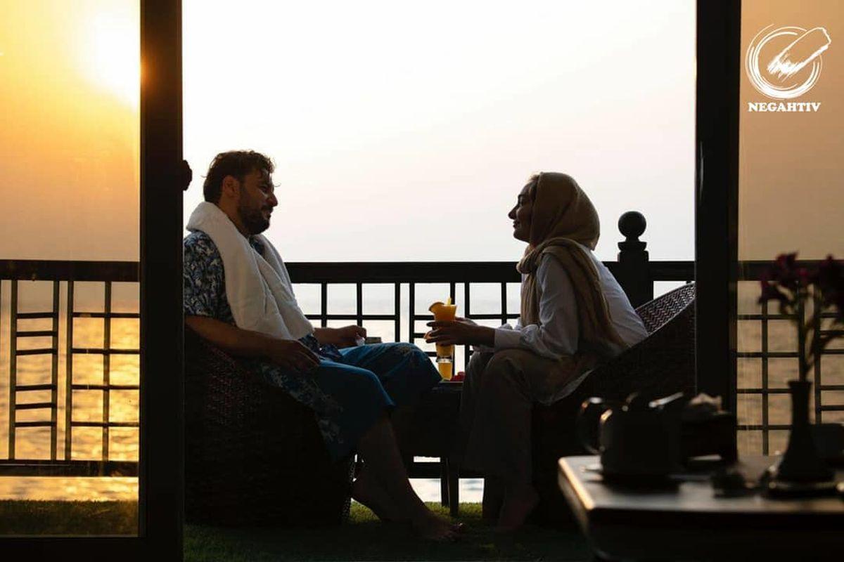 عکس عاشقانه هانیه توسلی و یک مرد در هتلی لاکچری !