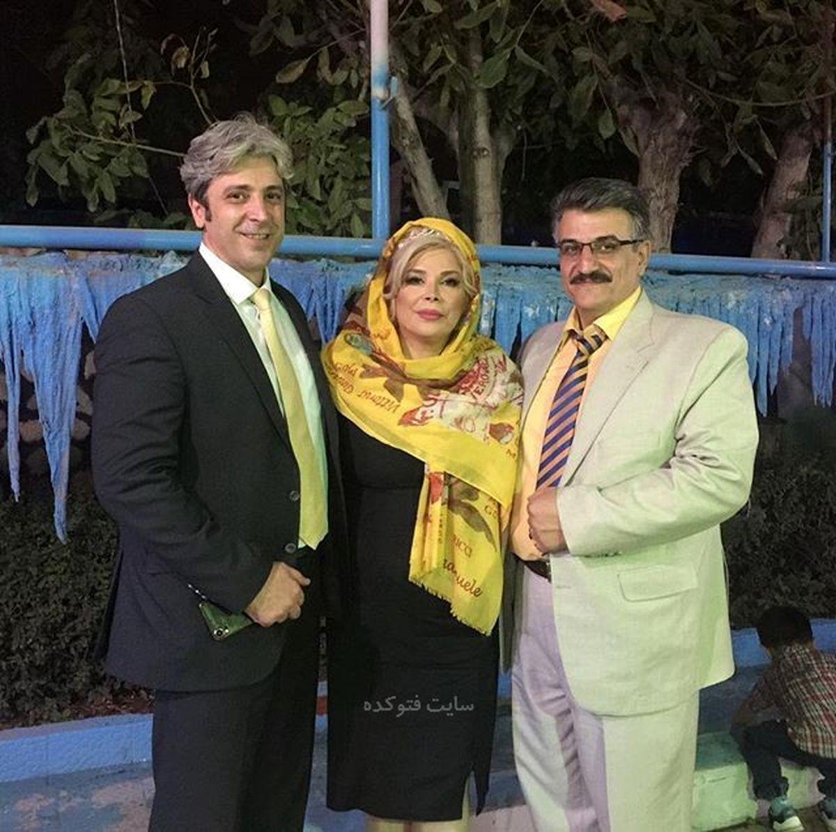 شیوا خنیاگر کنار همسر جوانش + عکس