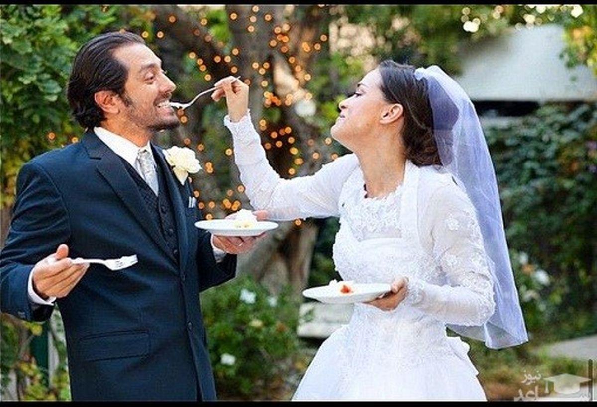 بهرام رادان و همسر جذابش + عکس