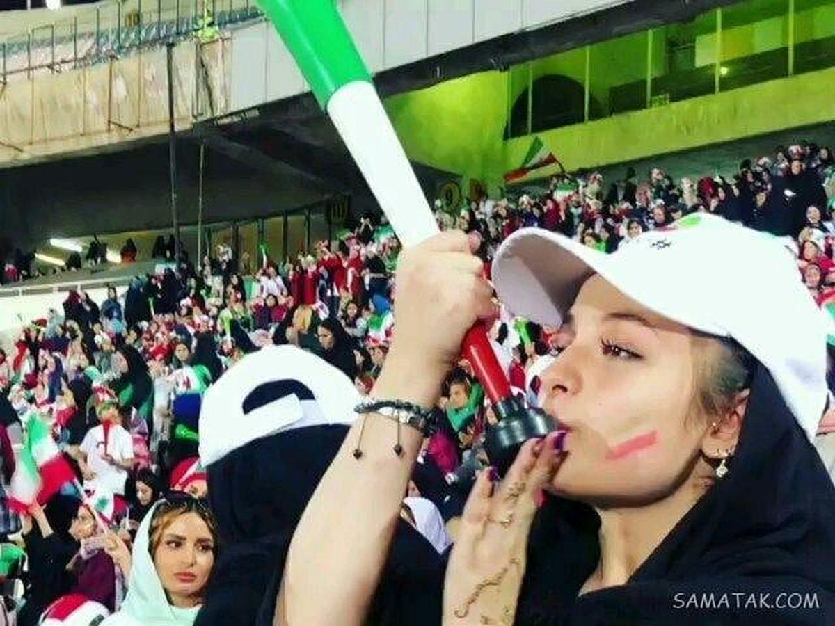 سارا و نیکا با ظاهر ناجور در استادیوم+عکس