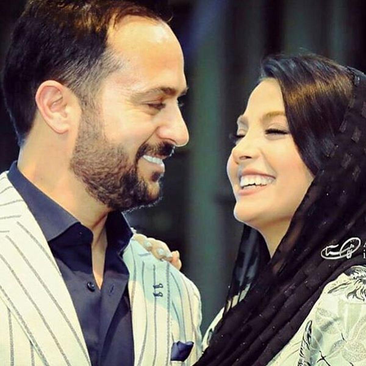 بوسه احمد مهرانفر و همسرش + عکس
