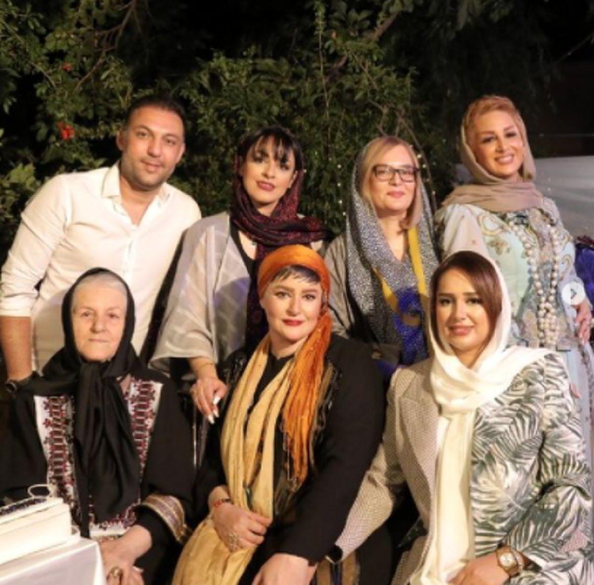 آرایش غلیظ و تیپ آنچنانی نعیمه نظام دوست در جمع خانوادگی+عکس