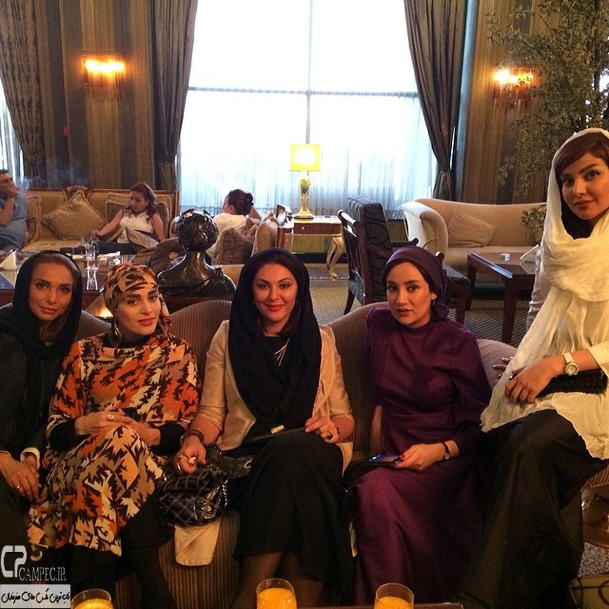 بهاره افشاری با پیراهن تنگ و کوتاه در هتل لاکچری اروپایی + عکس