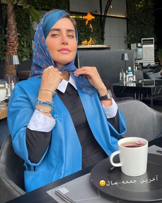 الناز شاکردوست با موهای آبی و عجیب!+عکس