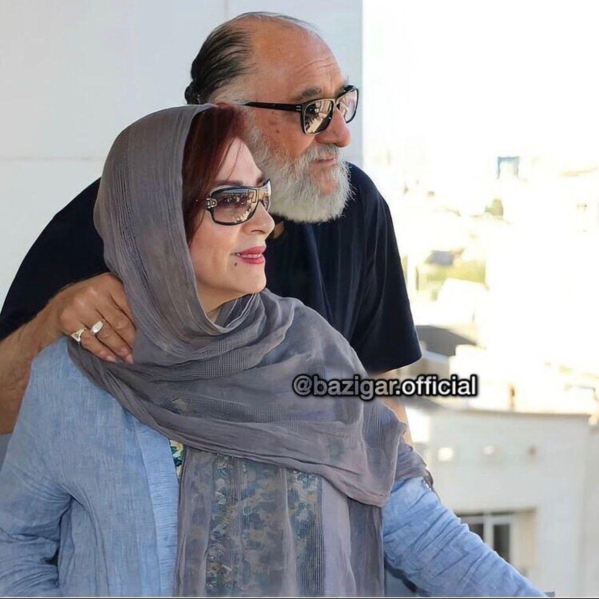عکس عاشقانه داریوش ارجمند و همسرش !