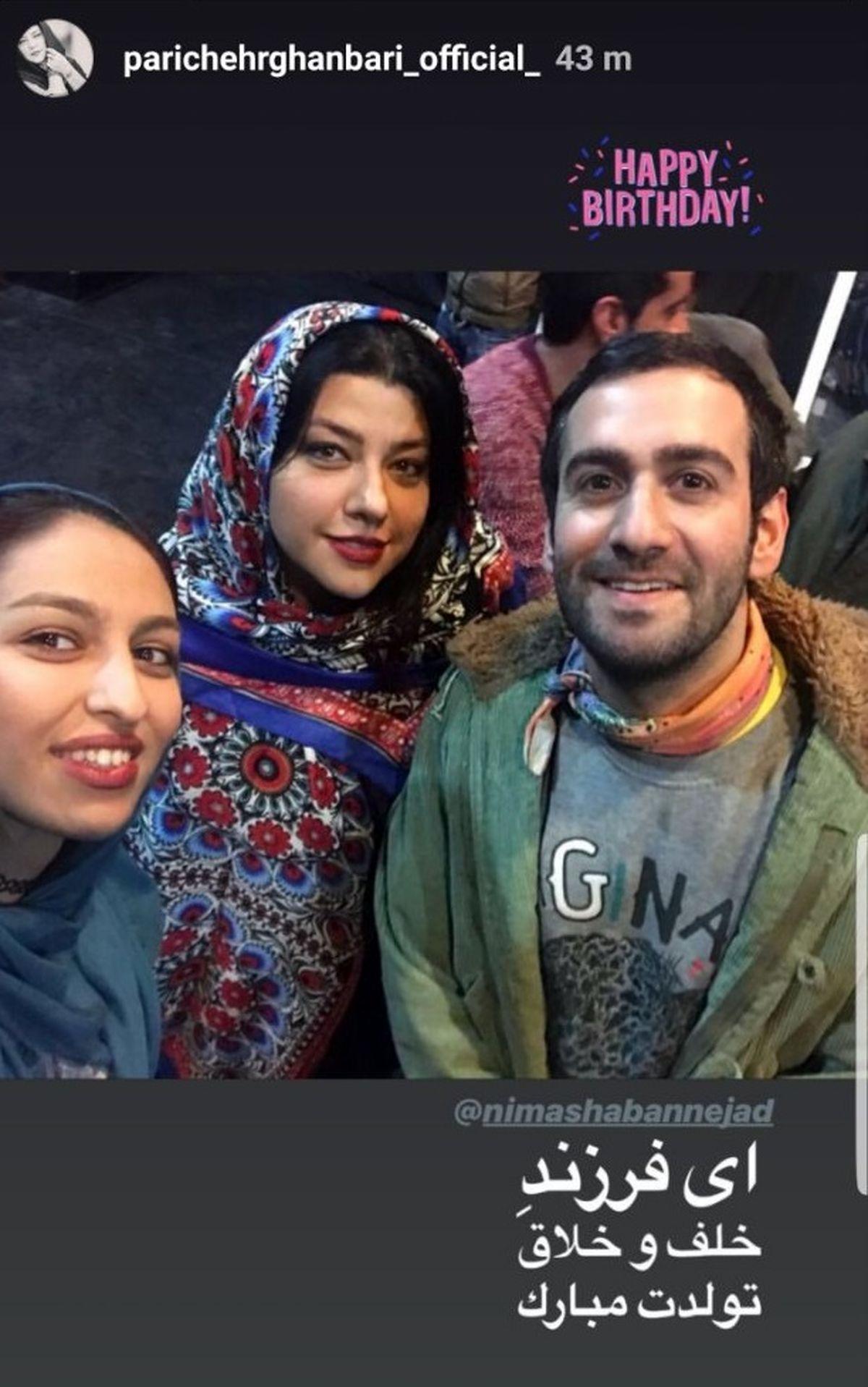 همسر شهاب حسینی در آغوش یک پسر معروف + عکس
